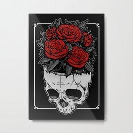 Death Roses Metal Print