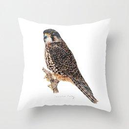 New Zealand Falcon Throw Pillow