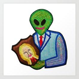Bad Aliens Trophy Art Print
