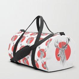 Deer | red Duffle Bag