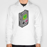 gameboy Hoodies featuring Gameboy Love by Artistic Dyslexia