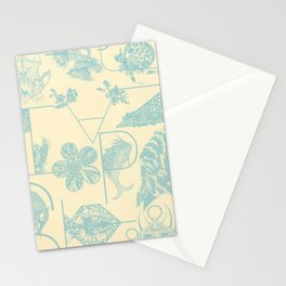 Letters in blue Stationery Cards