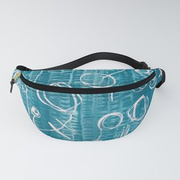Blue Word Fanny Pack