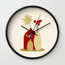flowers and pots Wall Clock