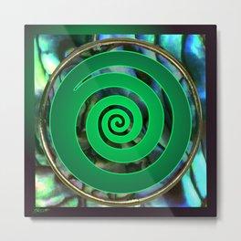 Paua Koru 1 Metal Print