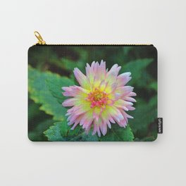 Dahlia With Green Leaves Carry-All Pouch
