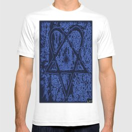 Nightfall Blue Heartagram T-shirt