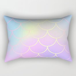 Pink Blue Mermaid Tail Abstraction Rectangular Pillow