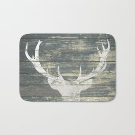 Rustic Deer Silhouette A311 Bath Mat