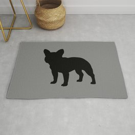 French Bulldog Silhouette Rug