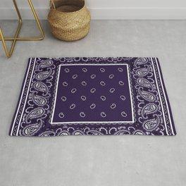 Royal Purple Bandana Rug