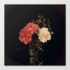 Artistic Floral still life with Rose and Hydrangea Canvas Print