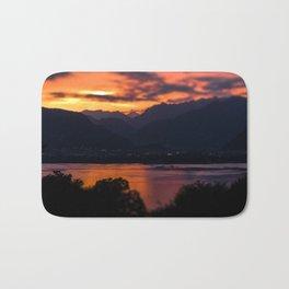 Locarno and Ascona at sunset Bath Mat