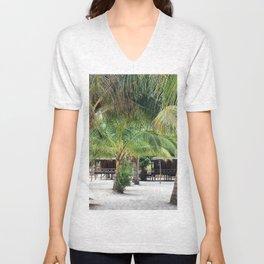 Bungalows on Palm Beach Unisex V-Neck