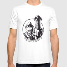 Mr. Nostrils and Mrs. Neck Mens Fitted Tee White MEDIUM