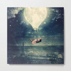 Moon Reverie over Paris Metal Print