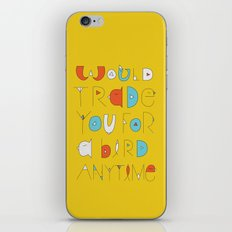 wings to love free  iPhone & iPod Skin
