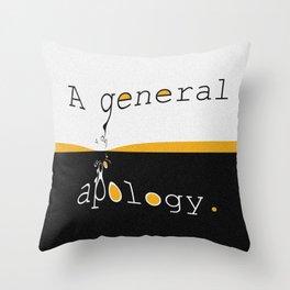 Apology Throw Pillow