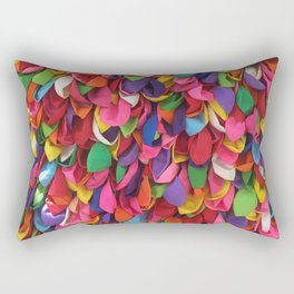Rainbow Balloons Deflated Rectangular Pillow