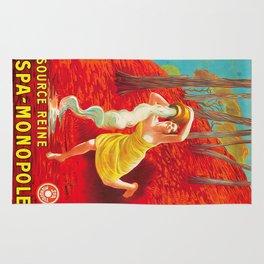 Vintage poster - Source Reine Rug