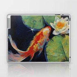 Koi and White Lily Laptop & iPad Skin