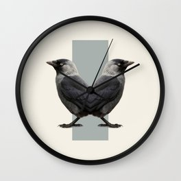 Double Animals: Birds Wall Clock
