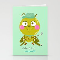 golf Stationery Cards featuring GOLF by Sucoco