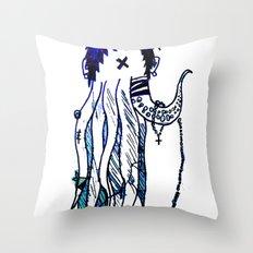 Tentacle X Throw Pillow
