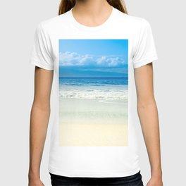 Beach Blue Kapalua Golden Sand Maui Hawaii T-shirt