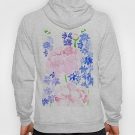 Peonies and Delphiniums Hoody