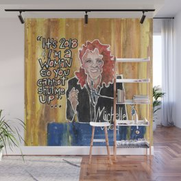Michelle Wolf Wall Mural