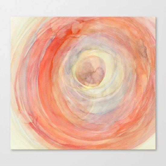 colour swirl retro Canvas Print