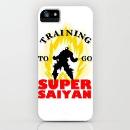 Training to go SUPER SAIYAN iPhone Case