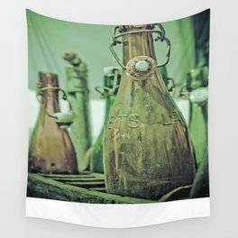 Old Bottles Wall Tapestry