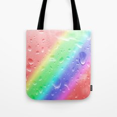 Rain on the rainbow Tote Bag