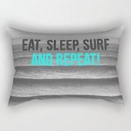 EAT, SLEEP, SURF AND REPEAT! Rectangular Pillow