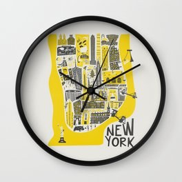 Manhattan New York Map Wall Clock