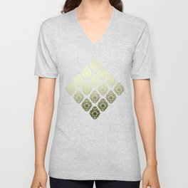 """Olive Damask Pattern"" Unisex V-Neck"