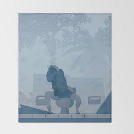 Jurassic Park poster - feat. Donald Gennaro Throw Blanket