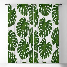 Monstera Leaf III Blackout Curtain