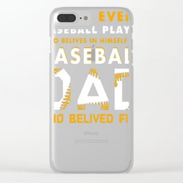 Baseball-Dad-T-Shirt-Baseball-Player-Fathers-Day-Gift Clear iPhone Case