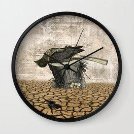 BLACK BIRD Halloween Illustration Wall Clock