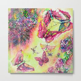 BUTTERFLIES BALL Metal Print