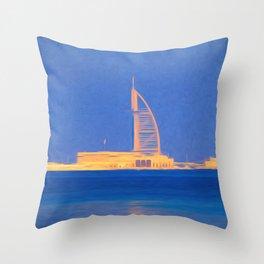 Art Of Burj AL Arab Throw Pillow