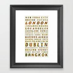 Travel World Cities Framed Art Print