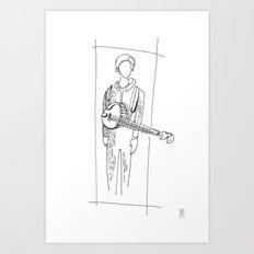 Banjo Player Art Print