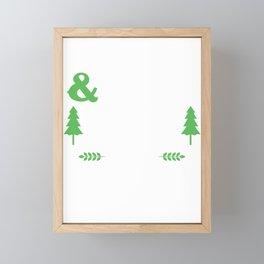 Hitches&Hoes Farmlife Farm Farming Farmer Tractor Ranch Gift Framed Mini Art Print