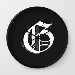 Letter G Wall Clock