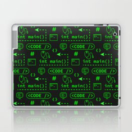 Love of Software Pattern - Green and Black Laptop & iPad Skin