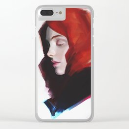 Girl Red Clear iPhone Case